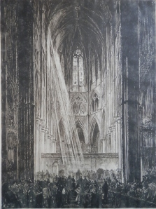 The Coronation - etching by FB image size 10 1/2 x 14 1/8